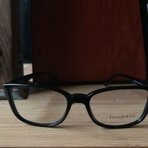 Tiffany & Co 2122 Black Rectangle Eyeglasses